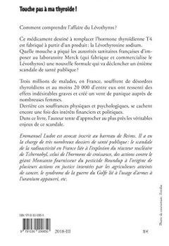Livres Couvertures de Touche pas à ma thyroïde !: Le scandale du Lévothyrox Préface de Nicole Delépine