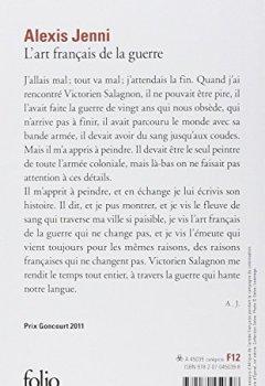 Livres Couvertures de L'art français de la guerre - Prix Goncourt 2011