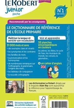 Livres Couvertures de Dictionnaire Le Robert Junior Poche - 7/11 ans - CE-CM-6e - Édition anniversaire