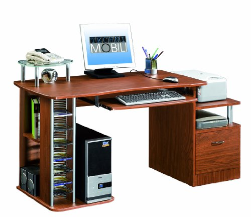 Picture of Comfortable Mad Tech 30x24x60 Mahogany 100% Mdf Construction Computer Office Desk Table (B004W0MHS2) (Computer Desks)