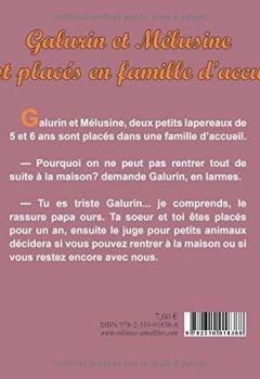 Livres Couvertures de Galurin et Mélusine sont placés en famille d'accueil