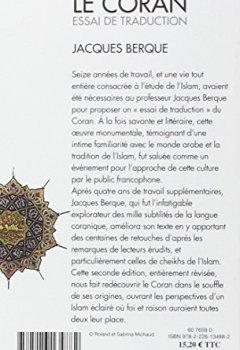 Livres Couvertures de Le Coran : Essai de traduction
