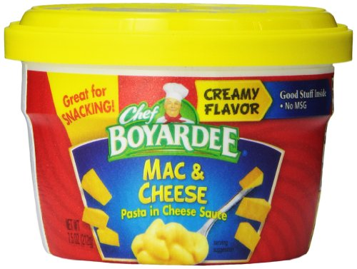 Amazon Deal on Chef Boyardee Macaroni and Cheese, 7.5-Ounce Microwavable Bowls (Pack of 12) as low as $0.69/each shipped! jungledealsblog.com
