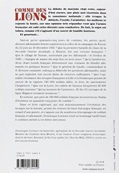 Livres Couvertures de Comme des lions : Mai-juin 1940 : le sacrifice héroïque de l'armée française
