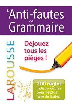 Livres Couvertures de Anti-fautes de grammaire