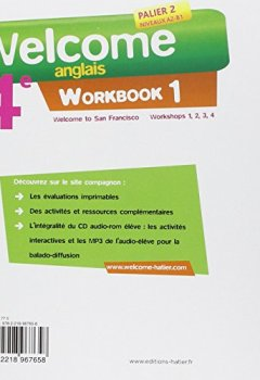 Livres Couvertures de Welcome Anglais 4e éd. 2013 - Workbook (2 volumes): Workbook (en 2 volumes)