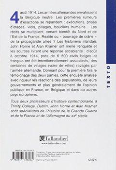 Livres Couvertures de 1914 Les atrocités allemandes : La vérité sur les crimes de guerre en France et en Belgique