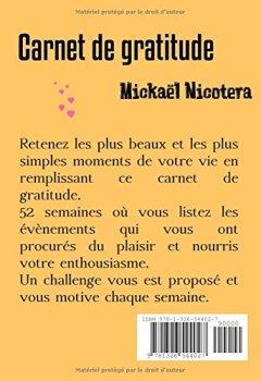 Livres Couvertures de Carnet de gratitude