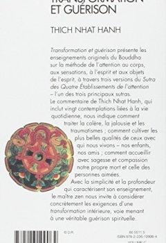 Livres Couvertures de Transformation et guérison : Le Sutra des quatre établissements de l'attention