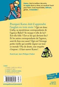 Livres Couvertures de Une aventure de Kamo, 3:Kamo. L'agence Babel
