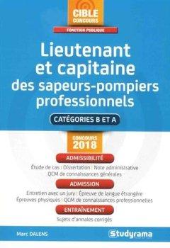 Livres Couvertures de Lieutenant et capitaine des sapeurs-pompiers professionnels