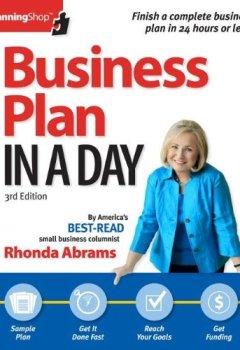 Livres Couvertures de Business Plan In A Day (Planning Shop) by Rhonda Abrams (2013-03-15)