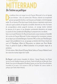 Livres Couvertures de François Mitterrand - De l'intime au politique