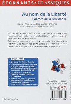 Livres Couvertures de Au nom de la liberté, Poèmes de la Résistance