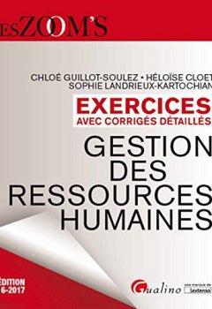 Livres Couvertures de Exercices avec corrigés détaillés - Gestion des ressources humaines 2016-2017