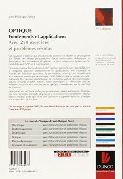 Livres Couvertures de Optique : Fondements et applications