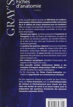 Livres Couvertures de Gray's Fiches d'anatomie