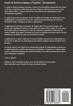 Livres Couvertures de Guide de bonnes pratiques d'hygiène : Restaurateur