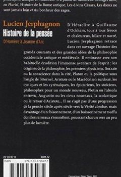 Livres Couvertures de Histoire de la pensée: D'Homère à Jeanne d'Arc