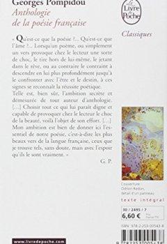 Livres Couvertures de Anthologie de la poésie française
