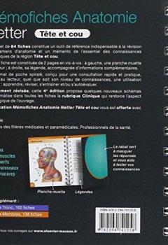 Livres Couvertures de Mémofiches Anatomie Netter - Tête et cou