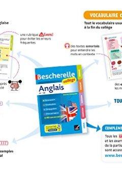 Livres Couvertures de Bescherelle Anglais collège: grammaire, conjugaison, vocabulaire, prononciation (A1-B1)