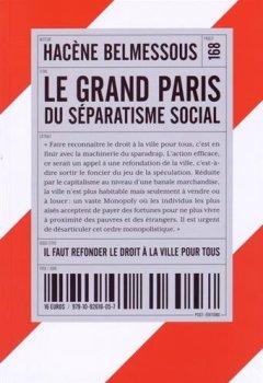 Livres Couvertures de Le Grand Paris du séparatisme social : Il faut refonder le droit à la ville pour tous