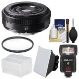 Fujifilm-27mm-f28-XF-Lens-with-Flash-Diffuser-Soft-Box-Filter-Kit-for-X-A2-X-E2-X-E2s-X-M1-X-T1-X-T10-X-Pro2-Cameras