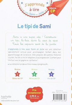 Livres Couvertures de Sami et Julie CP Niveau 1 Le tipi de Sami
