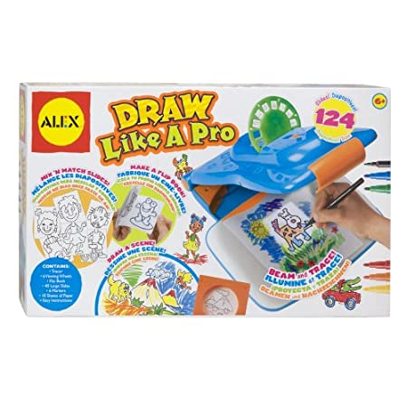 A fun and easy way to draw...just turn down the lights, switch on the projector, insert a preprinted slide and trace away| Comes with 124 slides, 6 markers, 10 sheets of paper, and a flip book.An easy and fun introduction to drawing.  Just turn down ...