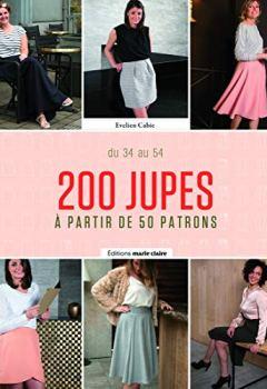 Livres Couvertures de 200 jupes à partir de 50 patrons : Tailles 34 à 54. Avec patrons