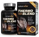 NatureWise Thermo Blend Advanced, thermogenetische Fatburner für die Gewichtsreduktion und natürliche Energie, 1300 mg, 60 Tage Vorrat, 120 Kapseln