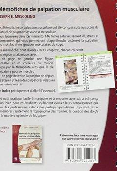 Livres Couvertures de MEMOFICHES PALPATION MUSCULAIRE