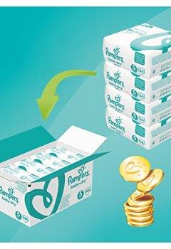 Livres Couvertures de Pampers - Baby Dry - Couches Taille 5 (11-23 kg/Junior) - Pack Économique 1 Mois de Consommation (x144 Couches)
