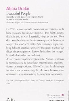 Livres Couvertures de Beautiful People: Saint Laurent, Lagerfeld:splendeurs et misères de la mode
