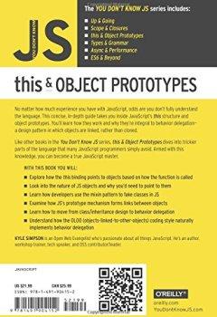 Livres Couvertures de You Don't Know JS - This & Object Prototypes