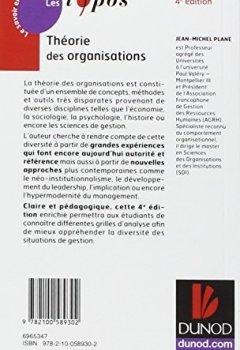 Livres Couvertures de Théorie des organisations - 4ème édition