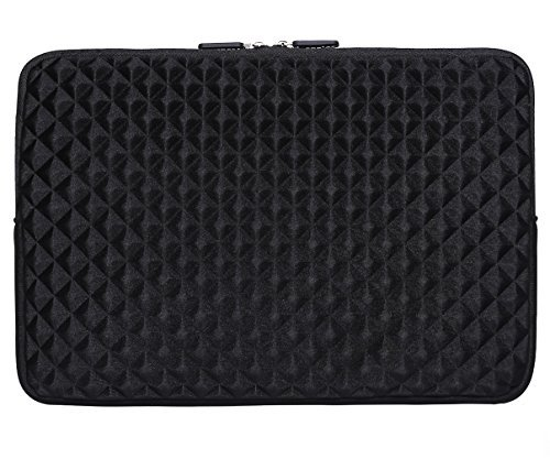 iCozzier-116-125-Inch-Notebook-Diamond-Foam-Splash-Sleeve-Carrying-Bag-for-Laptop-Notebook-Computer-Chromebook-MacBook-Air-11-Surface-Pro-3-Surface-Pro-4-Ultrabook-Computer-Black