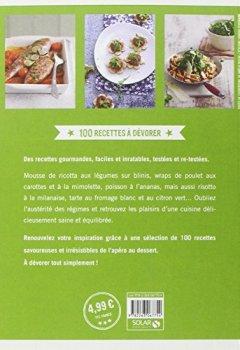 Livres Couvertures de 100 Recettes à dévorer - Cuisine minceur pour les gourmands