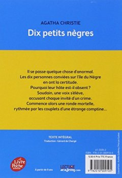 Livres Couvertures de Dix petits nègres