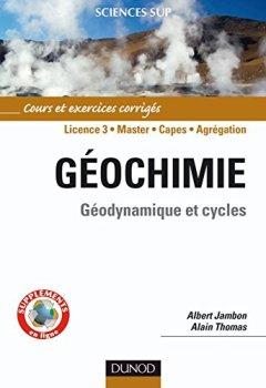 Livres Couvertures de Géochimie : Géodynamique et cycles