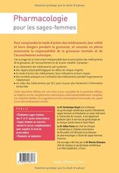 Livres Couvertures de Pharmacologie pour les Sages-Femmes