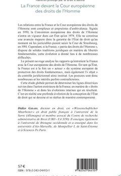 Livres Couvertures de La France devant la Cour européenne des droits de l'Homme