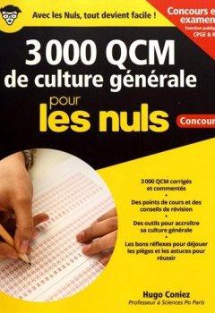 Livres Couvertures de 3 000 QCM de Culture générale pour les Nuls Concours - Fonction publique, nouvelle édition