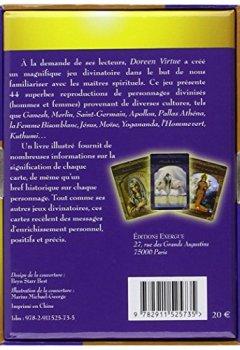 Livres Couvertures de Cartes divinatoires des Maîtres Ascensionnés - 44 cartes et un guide d'accompagnement