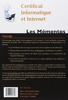 Livres Couvertures de Certificat informatique et Internet : C2i niveau 1