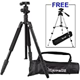 Ravelli Professional 65&quot; Ball Head Camera Video Photo Tripod with Quick Release Plate and Carry Bag