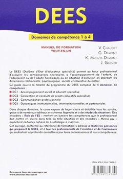 Livres Couvertures de DEES - Diplôme d'Etat d'éducateur spécialisé: Domaines de compétences 1 à 4