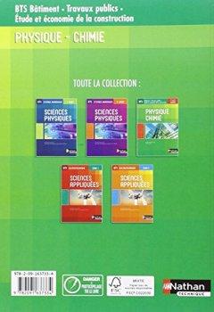 Livres Couvertures de BTS Batiment : Travaux Publics - Physique-Chimie - 1re et 2e années