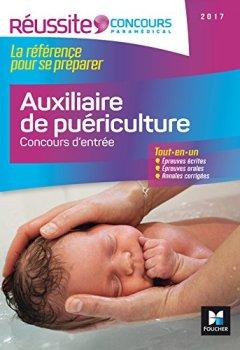 Livres Couvertures de Réussite Concours - Auxiliaire de puériculture - Concours d'entrée 2017 - Nº16